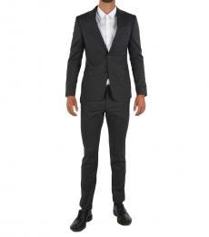 Ermenegildo Zegna Dark Grey Flap Pocket Button Suit