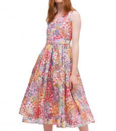 Kate Spade Multi Floral Dots Burnout Dress