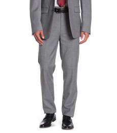 Calvin Klein Grey Solid Suit Pants