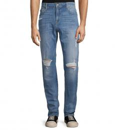 7 For All Mankind Blue Ryley Modern Skinny Jeans