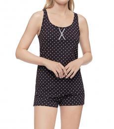 Calvin Klein Black Racerback Tank Shorts Pajama Set