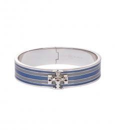 Silver-Blue Multi Kira Logo Bracelet