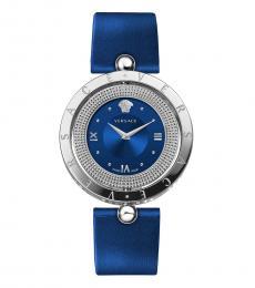 Versace Blue Silver Logo Watch
