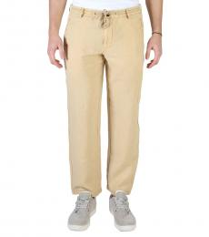 Armani Jeans Beige Waistband Casual Pants