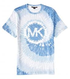 Michael Kors Light Blue Swirl Tie Dye T-Shirt