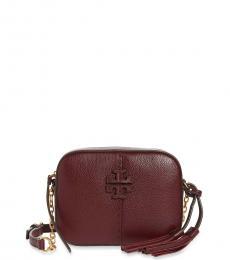 Tory Burch Maroon McGraw Small Crossbody Bag