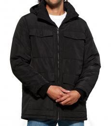 Black Water Resistant Puffer Jacket