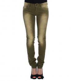 Green Slim Fit Jeans