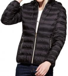 Michael Kors Black Mulberry Packable Short Jacket
