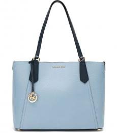 Pale Blue Kimberly Bonded Large Tote