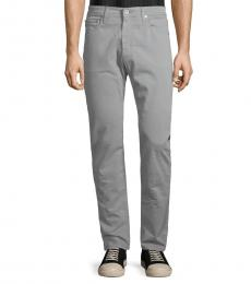 AG Adriano Goldschmied Cloud Grey Stockton Skinny-Fit Jeans