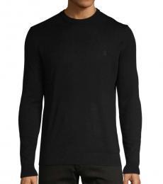 Blue Crewneck Cotton Sweater