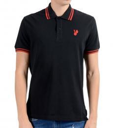 Versace Jeans Black Short Sleeve Polo