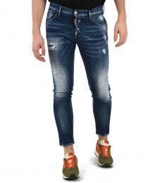 Dsquared2 Blue Stretch Denim Skinny Dan Jeans