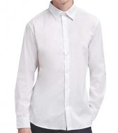 White SaT-Shirtn Button-Up Shirt