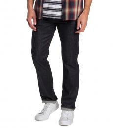 7 For All Mankind Navy Blue Carsen Straight Jeans