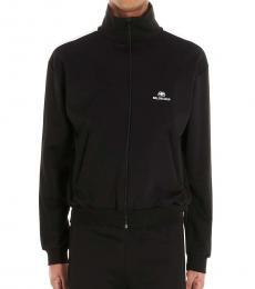 Balenciaga Black Logo Striped Jacket