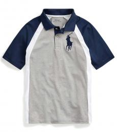 Ralph Lauren Boys Andover Heather Big Pony Performance Polo