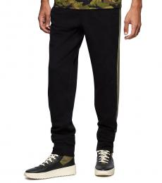 True Religion Black Quilted Jogger