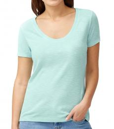 Light Blue Jersey Scoop Neck T-Shirt