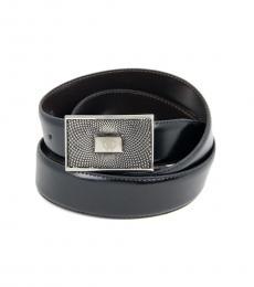 Black-Brown Reversible Logo Belt