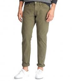 Ralph Lauren Olive Sullivan Slim Stretch Jeans