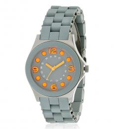 Marc Jacobs Grey Pelly Silicone Watch