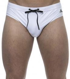 Karl Lagerfeld White Logo Patch Swimshorts