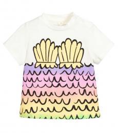 Stella McCartney Little Girls Ivory Mermaid T-Shirt