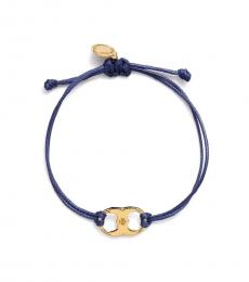 Tory Burch Navy Blue Embrace Ambition Bracelet
