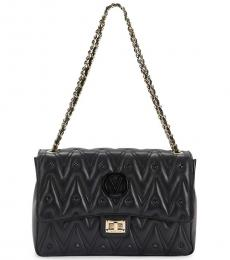 Mario Valentino Black Posh Sauvage Large Shoulder Bag