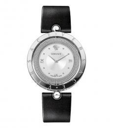 Versace Black Silver Logo Watch