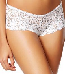 DKNY Poplin White Lace Sheer Boyshort Underwear