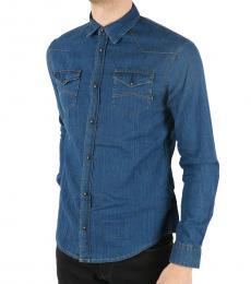 Armani Jeans Blue Denim Shirt