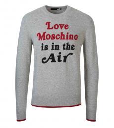 Love Moschino Grey Front Logo Sweater