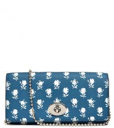 Blue Turnlock Small Shoulder Bag