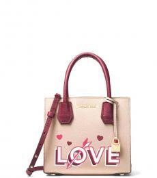 Michael Kors Pink Mercer Love Small Satchel