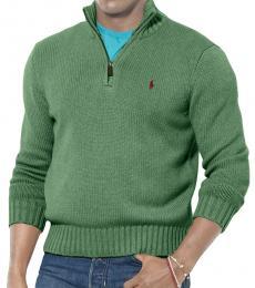 Ralph Lauren Olive Half-Zip Sweater