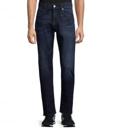 7 For All Mankind Night Frost Slimmy Straight-Leg Jeans
