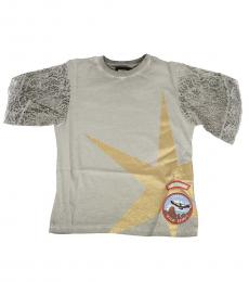 Girls Grey Lace T-Shirt