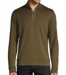 Hugo Boss Dark Green Long-Sleeve Sweatshirt