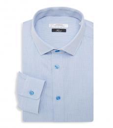 Light Blue Trend Fit Textured Dress Shirt