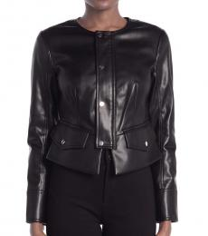 Diane Von Furstenberg Black High-Low Jacket