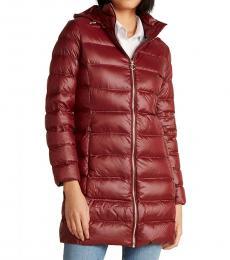 Michael Kors Cherry Packable Long Jacket