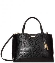 Calvin Klein Black Signature Large Satchel