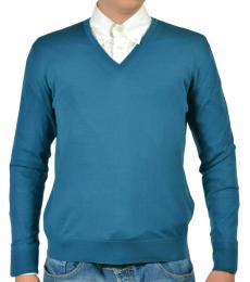 Teal Blue Wool Sweater