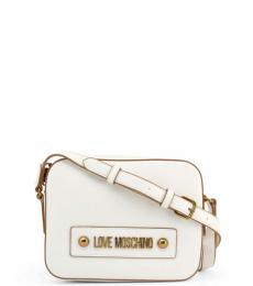 Love Moschino White Box Solid Medium Crossbody