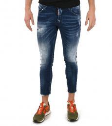 Blue Capri Skater Jeans