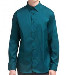 Deep Teal SaT-Shirtn Button-Up Shirt
