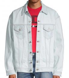 Denim Spread Collar Denim Jacket